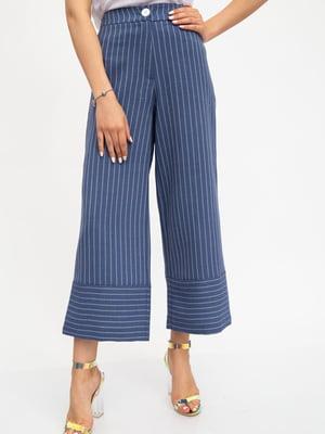 Кюлоты цвета джинс в полоску | 5461787