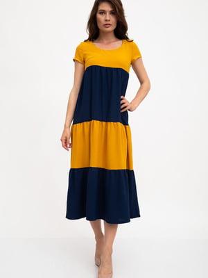 Сукня гірчично-синього кольору | 5461797