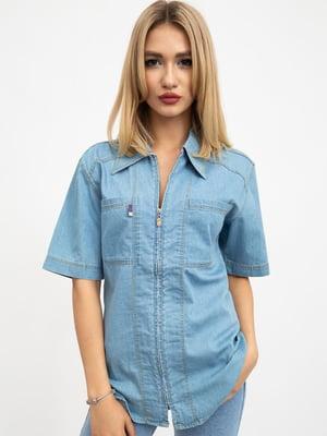 Рубашка светло-голубая | 5461814