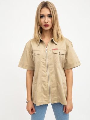 Рубашка темно-бежевая | 5461815