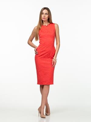 Платье кораллового цвета | 5461918