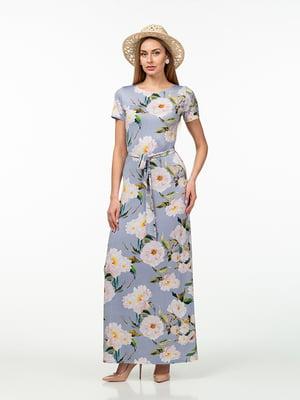 Сукня лавандового кольору в квітковий принт   5461924