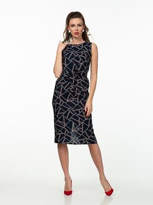 Сукня синя в геометричний принт   5461934