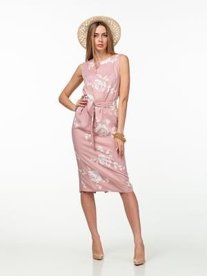 Платье розовое в цветочный принт | 5461936
