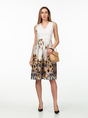 Сукня біла в квітковий принт | 5461963