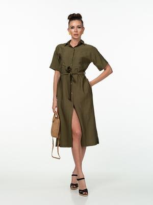 Сукня кольору хакі | 5461977