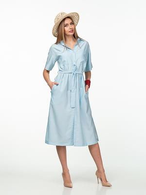 Платье голубое | 5461978