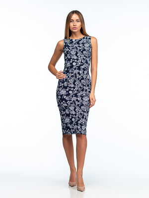 Сукня темно-синя в квітковий принт   5461998
