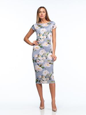 Сукня лавандового кольору в квітковий принт   5461999