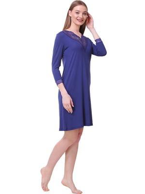 Сорочка нічна синя | 5462101
