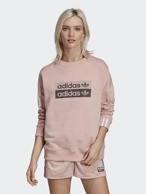 Свитшот розовый в принт | 5360204