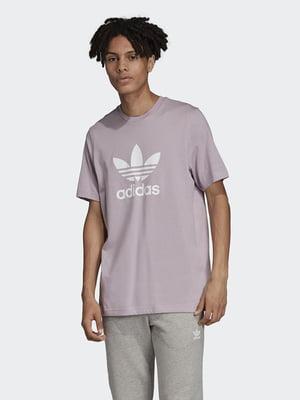 Футболка розовая в принт | 5462015