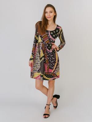 Сукня різнокольорова в принт | 5461125