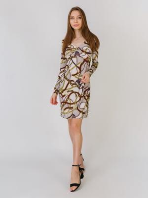 Сукня різнокольорова в принт | 5461123