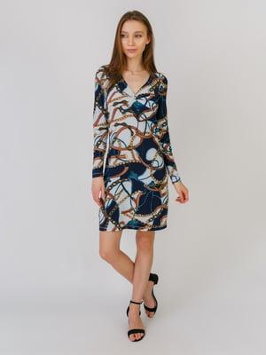 Сукня різнокольорова в принт | 5461121