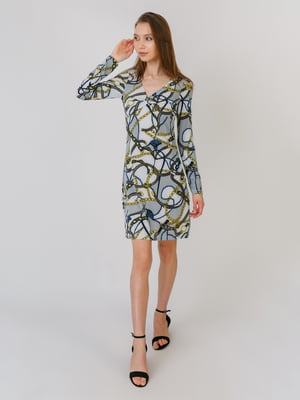 Сукня різнокольорова в принт | 5461122