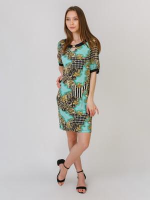 Сукня різнокольорова в принт | 5461118