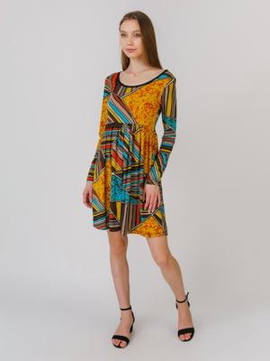 Сукня різнокольорова в принт | 5461127