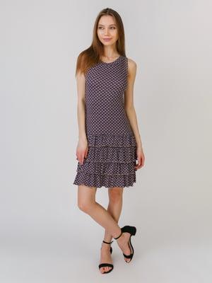 Сукня фіолетова в принт   5461115