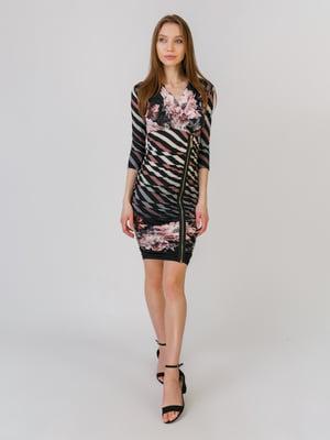 Сукня різнокольорова в принт | 5461110