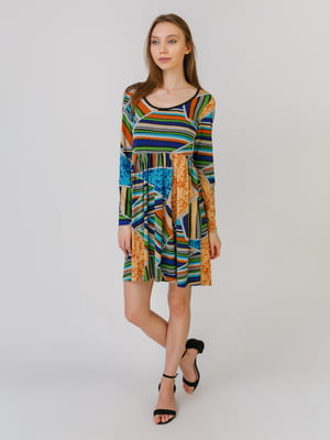 Сукня різнокольорова в принт | 5461126