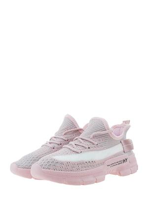 Кроссовки розово-серые | 5458090