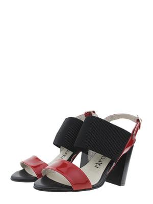 Босоніжки червоно-чорні   5459765