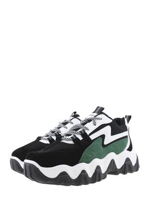 Кроссовки черно-зеленые | 5458098
