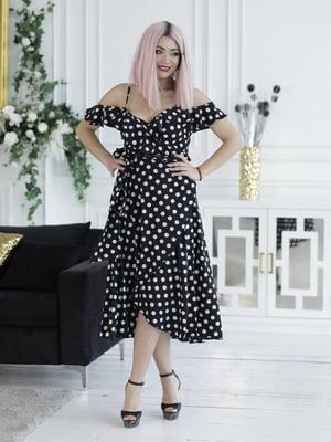 Сукня чорна в горошок | 5464159