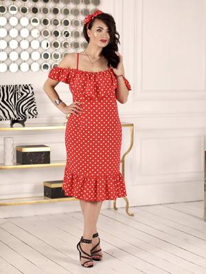Сукня червона в горошок | 5464164
