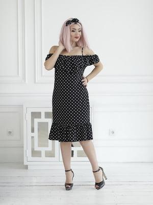 Сукня чорна в горошок | 5464167