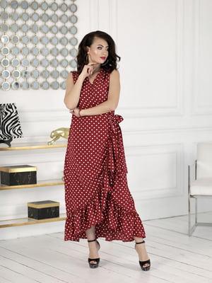 Сукня бордова в горошок | 5464168