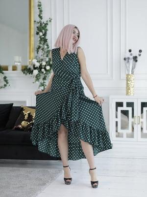 Сукня темно-зелена в горошок | 5464170