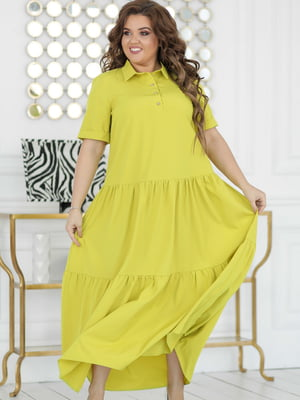 Платье лаймового цвета | 5464307