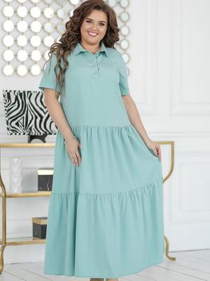 Платье мятного цвета | 5464308