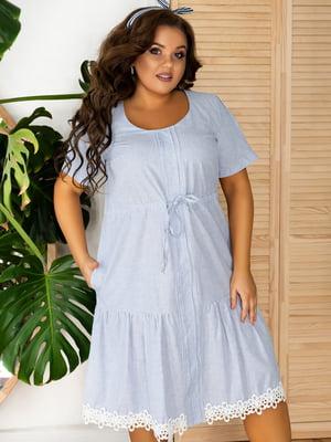Платье голубое | 5464324
