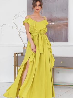 Платье лаймового цвета | 5464332