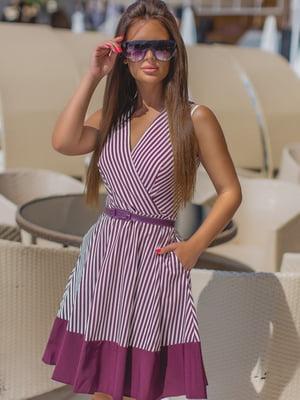 Платье цвета марсал в полоску | 5464338