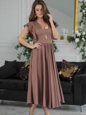 Сукня кольору мокко | 5464343