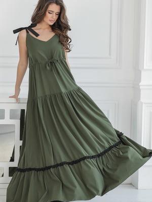 Платье цвета хаки | 5464347