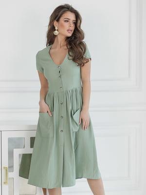 Платье фисташкового цвета | 5464352