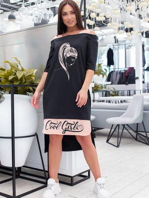 Платье двухцветное с принтом | 5464363