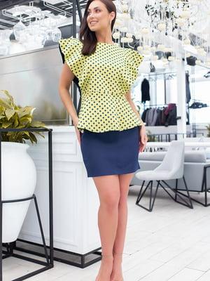 Блуза зеленая в горошек   5464396