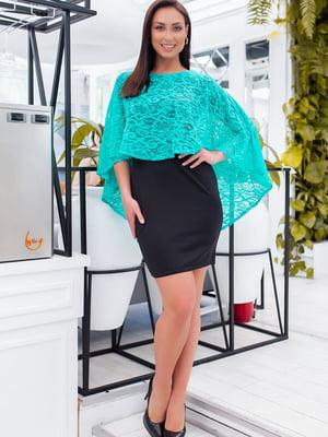 Сукня двоколірна з візерунком | 5464415