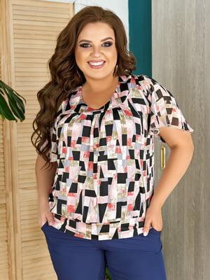Блуза разноцветная в принт | 5464104
