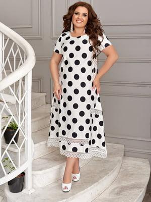 Сукня біла в горошок | 5464152