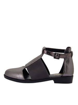Туфлі сіро-чорні | 5464824