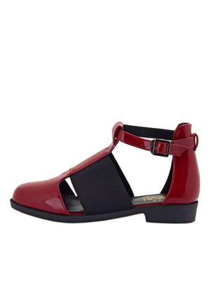 Туфлі червоно-чорні | 5464825