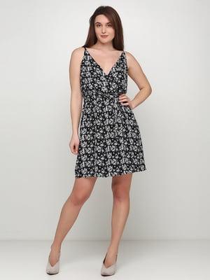 Сукня чорна в принт | 5465018