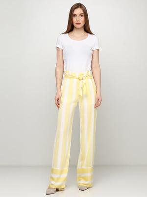 Штани біло-жовті в смужку | 5465019